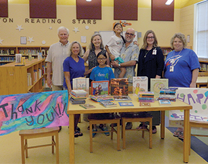 Books donated in honor of retired educator