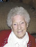 Pearl Campbell, age 102,