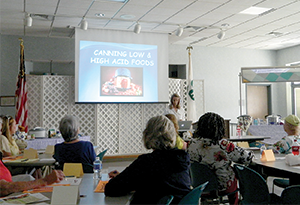 Cooperative Extension held canning class