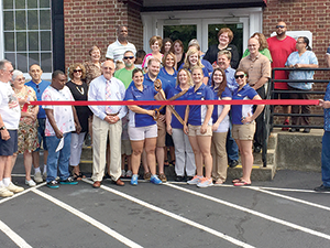 Ribbon cutting at Carolina Chiropractic's Clinic and Wellness Spa