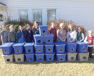 Betsy Ross 4-H Club Builds Feral Cat Houses Dec. 5th