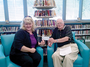 Lions Club donation will buy large print books