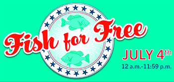 Fish for Free in North Carolina's Public Waters on July 4, 2020