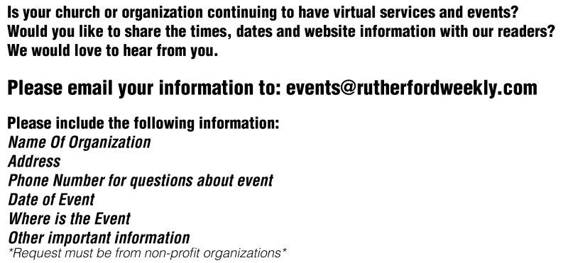 Is your church or organization continuing to have virtual services and events?