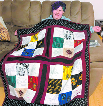 Maryssa Dysart receives personalized  Quilt of Hope