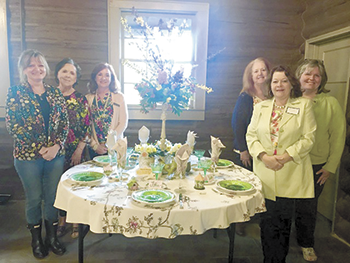 Rutherfordton Garden Club Creates Themed Tablescapes