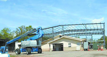 Expansion  construction  underway at  meat plant