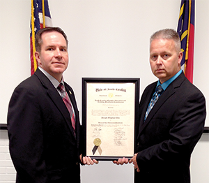 Dunn receives Advanced Professional Certificate