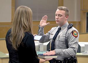 Radford sworn in as FCPD officer
