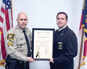 Deputy receives advanced professional certificate