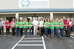 Ribbon cutting for Rutherford  County Family & Children's Dentistry