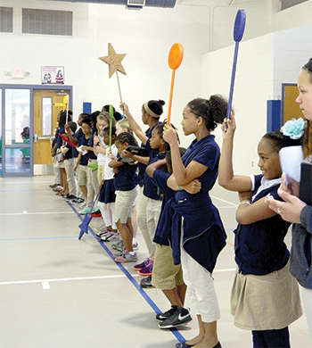 Elementary students take part in leadership day