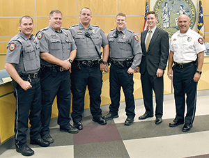 Forest City Police Department announce the promotion of staff to Master/Senior Police Officer