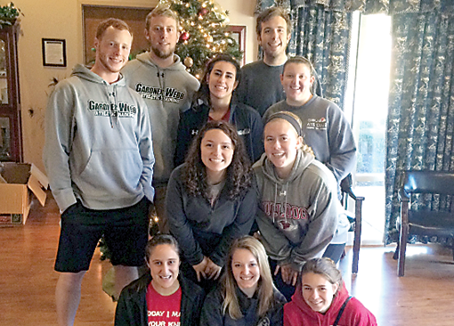Gardner-Webb Students Share Joy with Homeless During Holidays Athletic Training Club Members Visit Upstate South Carolina Shelter