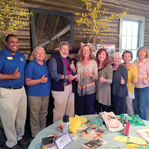 Rutherfordton garden club donation to kidsenses