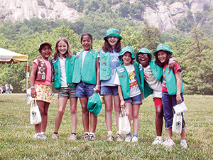 Girl Scout Day at Chimney Rock Park