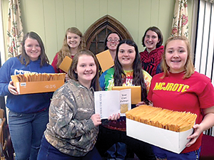 Girl Scouts make care packages for R-S Middle