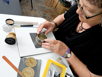 Original art marks the path for Rutherfordton's Gold Mile