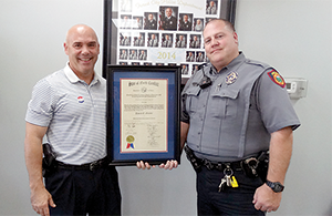 Officer receives advanced law enforcement certificate