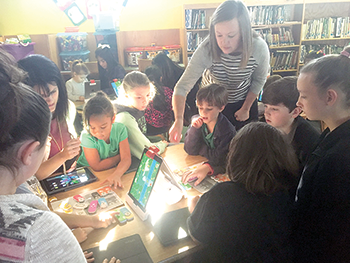 Power in the hour  Forrest Hunt  students take part in global  coding event