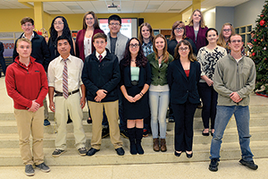 Sixteen students inducted into leadership society