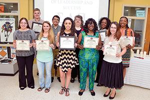 Eleven students inducted into leadership society