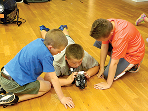 Campers on a mission  to Mars
