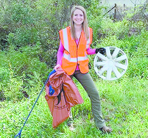 Town Employee Participates in Recent Litter Sweep