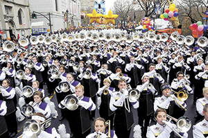 12 Rutherford County students among the WCU band at Macy's Day parade