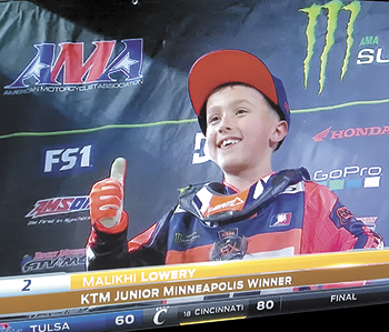 Motocross Racer, Malikhi Lowery To Celebrate 9th Birthday Racing in Las Vegas