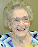 Mrs. Jimmie Lovelace Padgett, age 95