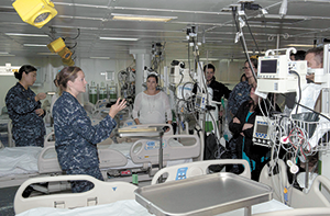 Rutherfordton native conducts tour of medical facilities onboard USS Makin Island