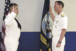 Rutherfordton Native takes oath of Navy reenlistment from Chief of Naval Operations