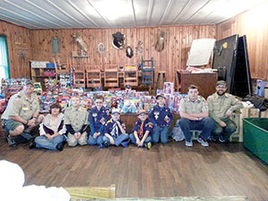Troop 999 collects toys for ministries