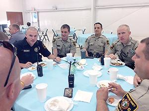 Pancake breakfast for law enforcement officers