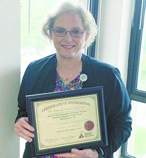 Phillips receives certificates for diabetes work