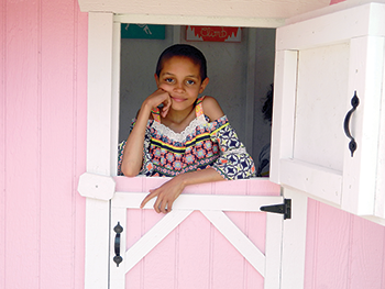Little girl's dream house is a wish come true