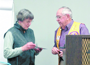 Rutherfordton  Lion's Club Donates to Norris Library