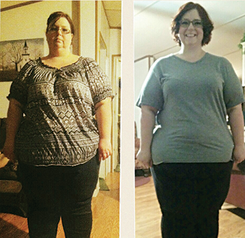 Lifestyle change leads to woman's weight loss of almost 100 pounds