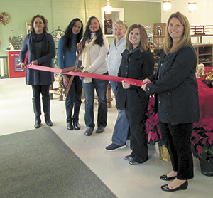 Ribbon cutting for Unique Antique Station