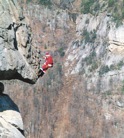 Santa To Practice On Chimney Rock Saturday, December 10