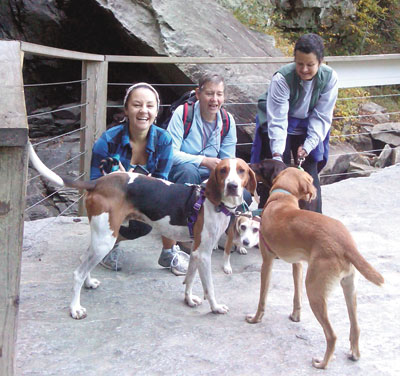 """""""Outward Hounds"""" Sniffed Out Trails At Chimney Rock"""