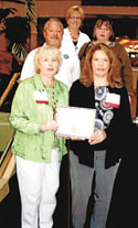 Auxiliary Receives State Honors