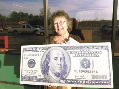 THIS WEEK'S LUCKY $100 WINNER!