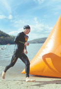 At Lake Lure... Collegiate Triathletes Make History  At First Ever  College  Triathlon!