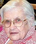 Gertie Fincannon Hill, age 92