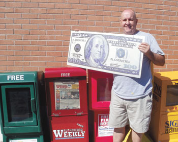 We spotted Richard Kennedy of Rutherfordton,  our $100 Reader of the Week Contest winner, picking up his Rutherford Weekly at the Rutherfordton Post O