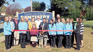 Forest City Family Dentistry ribbon cutting