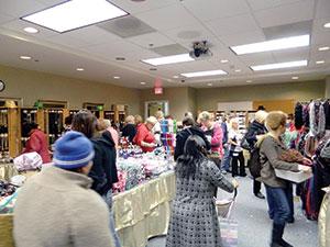 One-day sale draws a crowd