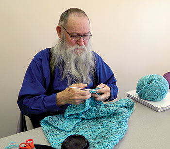 You Might Call Him the Crochet King